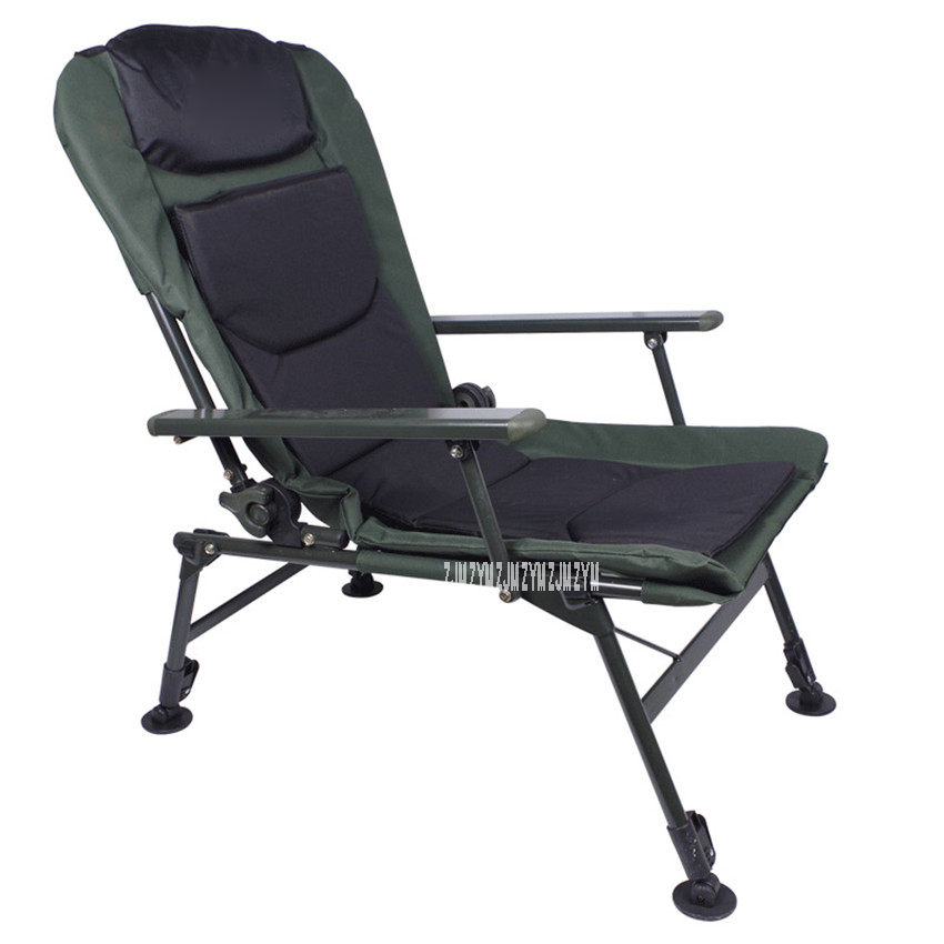 DY003 Foldable Fishing Chair Light Portable Multifunctional Lifting Fishing Chair Leisure Fishing Stool Powder Coating Iron Pipe
