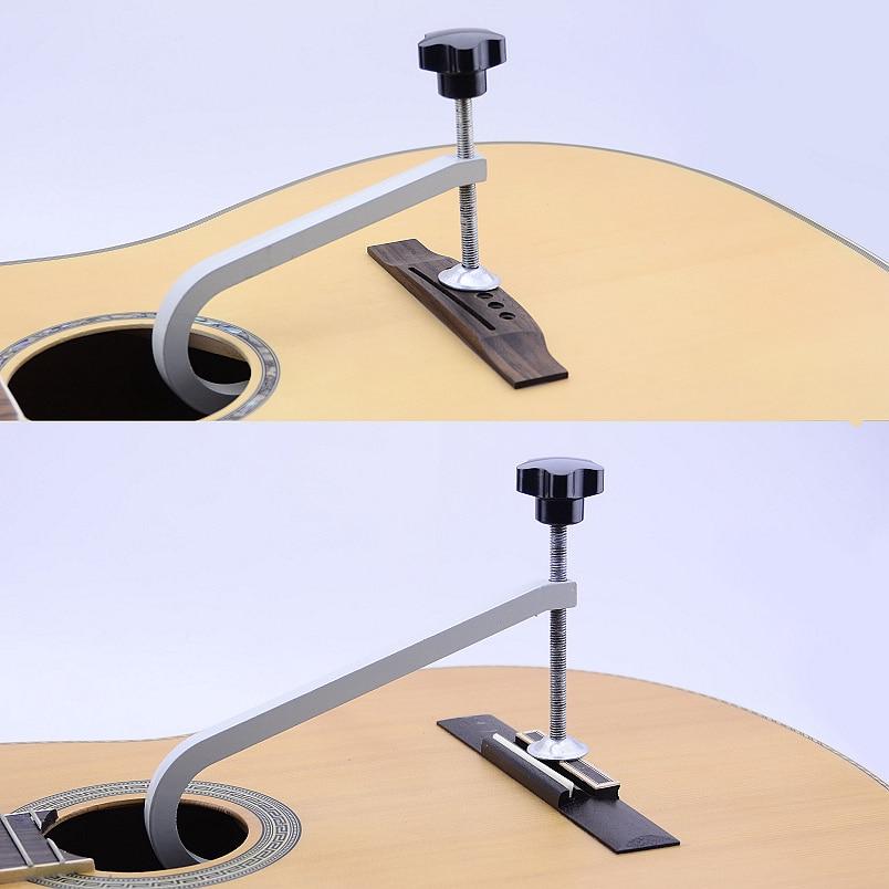 Acoustic Guitar Bridge Clamp / Cast Steel Deep Throat Clamp / Deep Reach C-Clamp Guitar Repair Tool