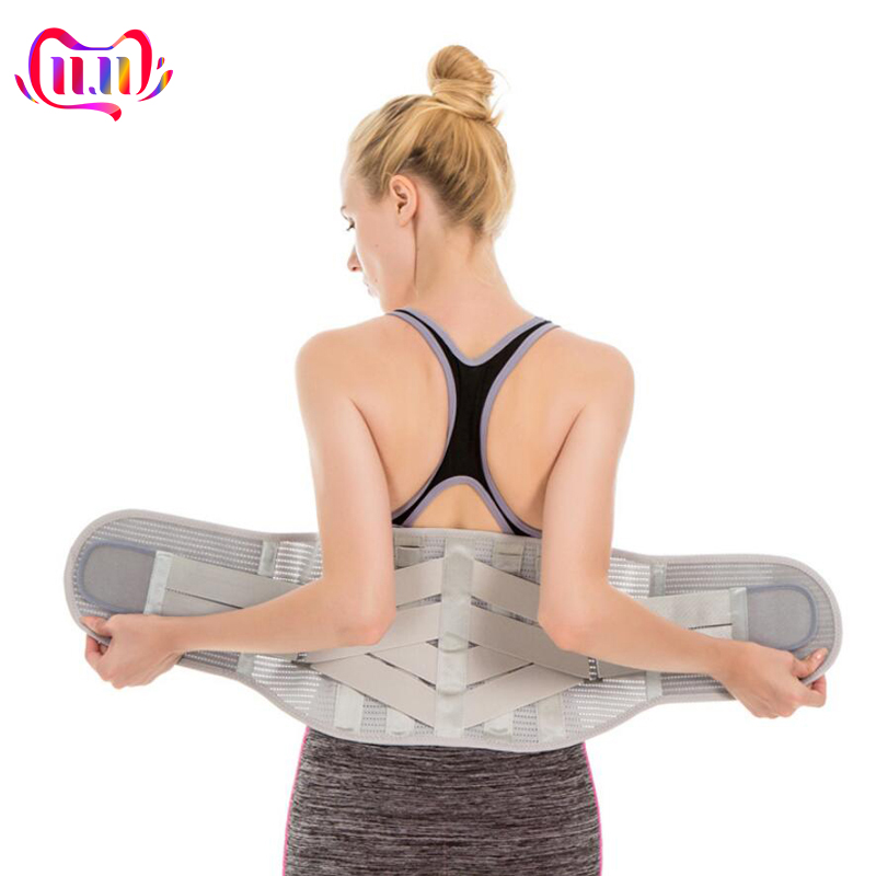 Elastic Shaper Slim Belt Lumbar Brace Support Waist Trainer Trimmer Corset Girdle Men And Women Lower Back Pain Relief