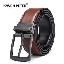 Мужской кожаный ремешок коричневый черный классический дизайн