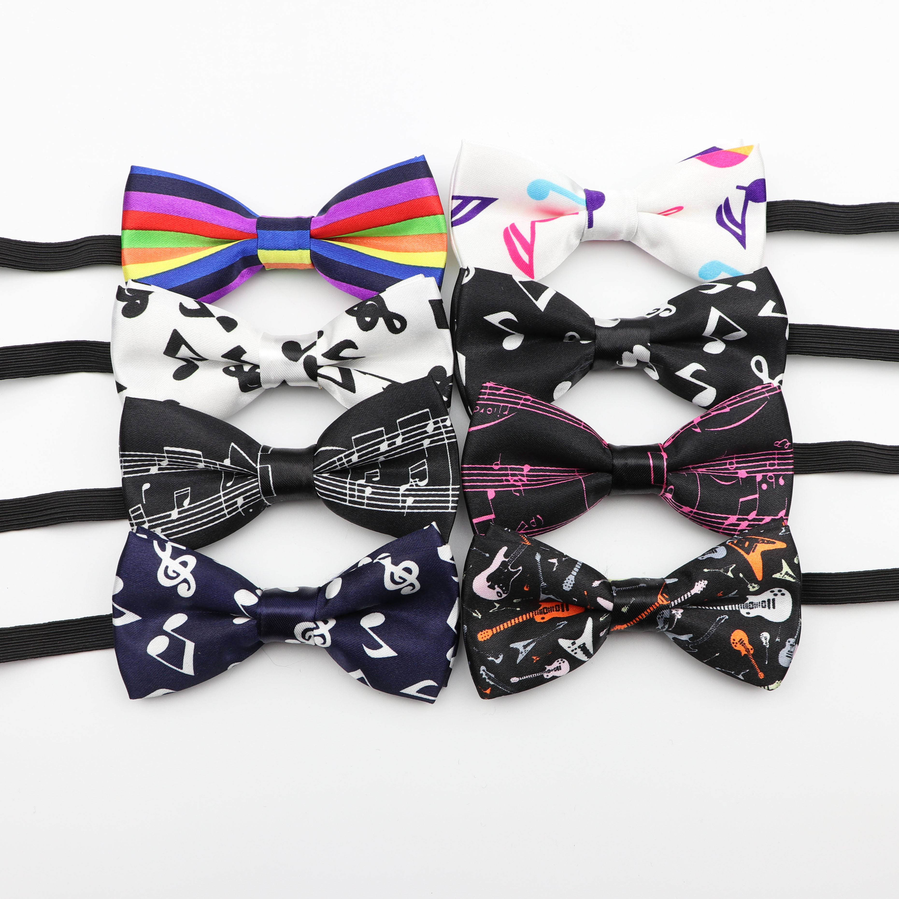 Kids Music Bow Tie Character Moustache Bowtie Children Camouflag Note Necktie Baby Polyester Butterfly Festival Striped Ties