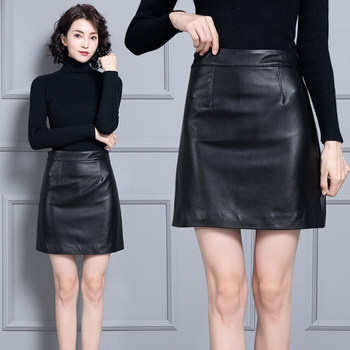 2019 New Fashion Natural Genuine Real Sheep Real Leather Skirt K45 2019 new fashion genuine sheep leather skirt e46