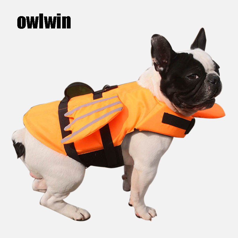Dog Life West Summer Shark Pet Life Jacket Dog Safety Clothing Dogs Bathing Fashion Pets Safety Swimming Suit