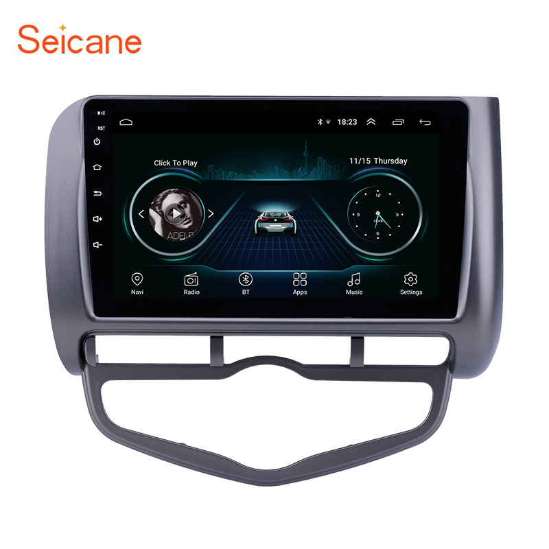<font><b>Seicane</b></font> 9 inch Android 8.1 Car GPS Navigation Radio for 2006 <font><b>Honda</b></font> Jazz <font><b>City</b></font> Auto AC Left Hand Drive car support Carplay DVR OBD image