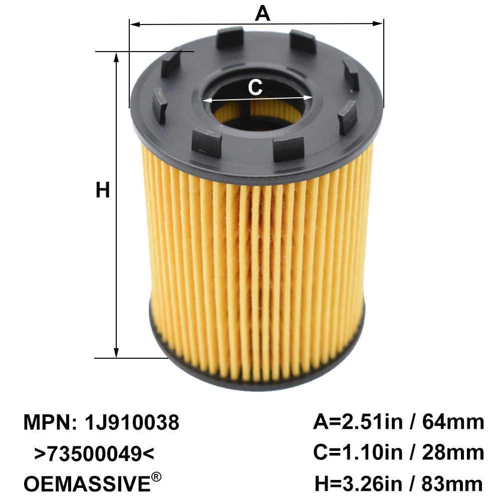 Oil Filter Fiat 500 1.4 16v Abarth 1368 PETROL 2//09-/>