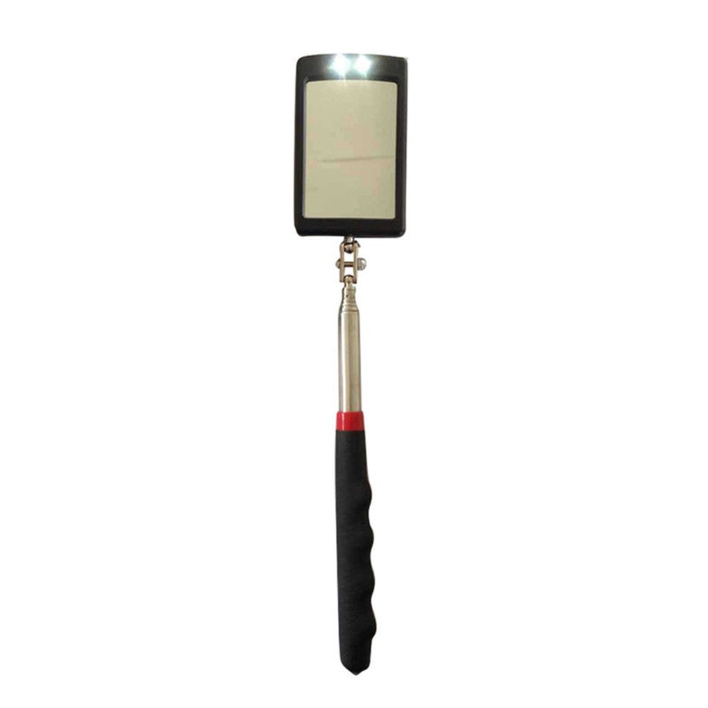 Extend Rotated 360 Degrees Pro Lighted Inspection Mirror  LED Telescopic Mirror Telescoping Illuminate LED Swivel Light
