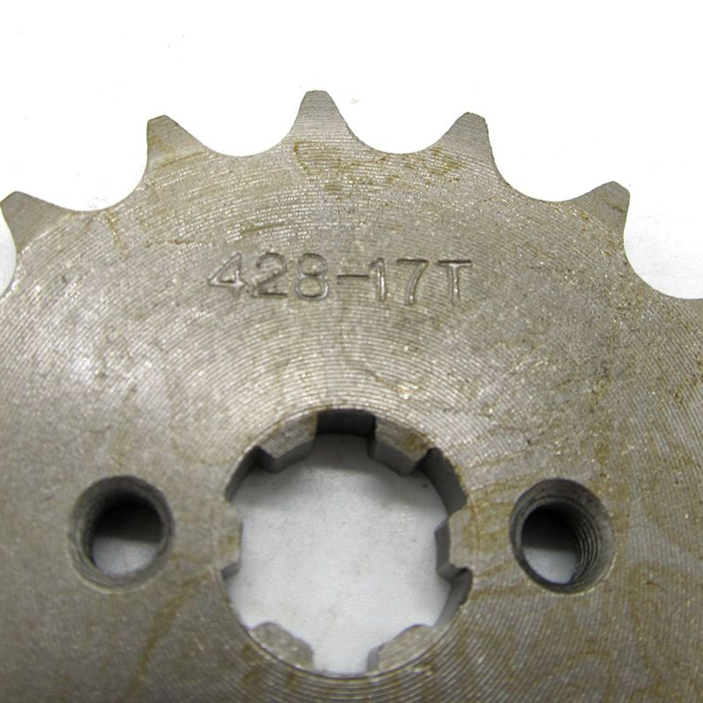17 Teeth 428 Front Chain Sprocket Cog 50cc-150cc Quad Dirt Bike ATV Buggy