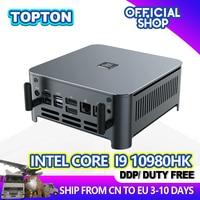 Topton新到着10th世代インテルcoreミニpc i9 10980HK i7 10750h i5 10300h windows 10 2 * DDR4/M.2 dp hdmi 4 18kコンピュータhtpc nuc