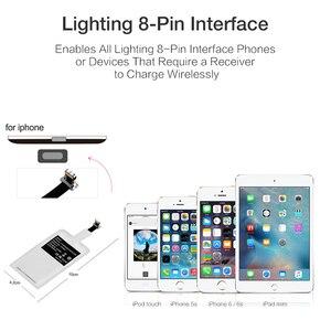Image 5 - Qi стандартная беспроводная зарядная катушка приемник Pad универсальный модуль адаптера для iPhone 5 6 7 Samsung Huawei Micro USB Type C Телефона