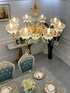 Image 5 - יוקרה קריסטל נברשת לסלון קלאסי קריסטל נברשת אור גופי שינה זהב מנורת LED קריסטל מנורת תקרה