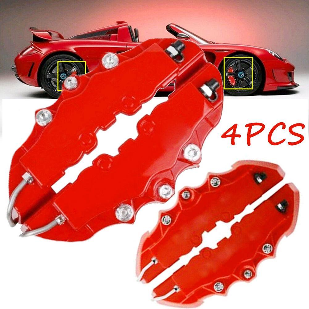 4Pcs/Set 3D Universal Stylish Auto Front Rear Disc Brake Caliper Cover Decoration Kit Car Exterior Boutique 2019 New Funny Sign
