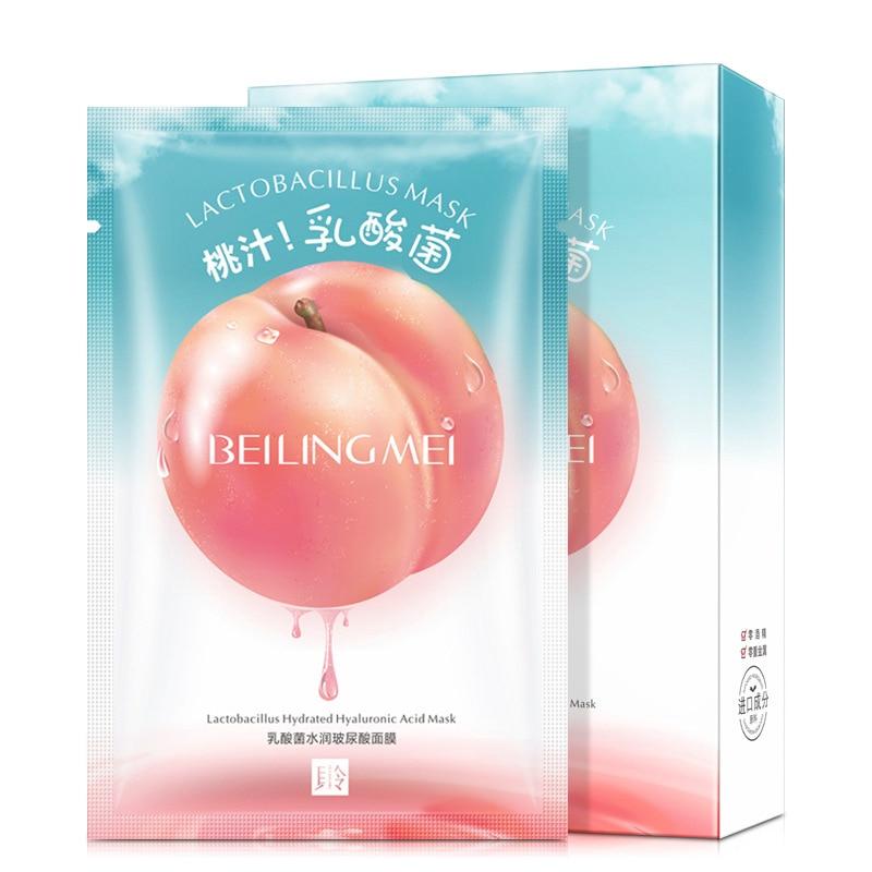 10 Pieces Peach Breast Milk Yoghurt Mask Moisturizing Lactic Acid Mask Moisturizing Skin Rejuvenation Skin Care