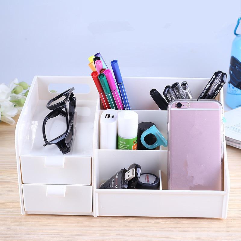 Multi-function Pen Pencil Holders Container Desktop Drawer Storage Organizer Stand Stationery Storage Box Office School Supplies