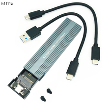 Yeni M.2 NVME PCIe NGFF SATA USB 3.1 SSD durumda alüminyum adaptörü için 2230 2242 2260 2280 NVMe/SATA M2 SSD RTL9210B çift protokolü