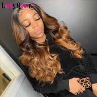 Lucky Queen-pelucas con parte de onda de encaje de Malasia, pelucas de cabello humano de color burdeos, pelucas frontales de encaje prearrancadas para mujeres negras