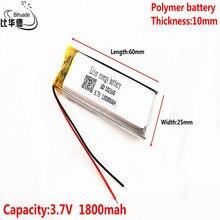 Pilas recargables de polímero de litio li po para Mp3, MP4, MP5, GPS, PSP, móvil, bluetooth, 3,7 V, 1800mAh, 102560