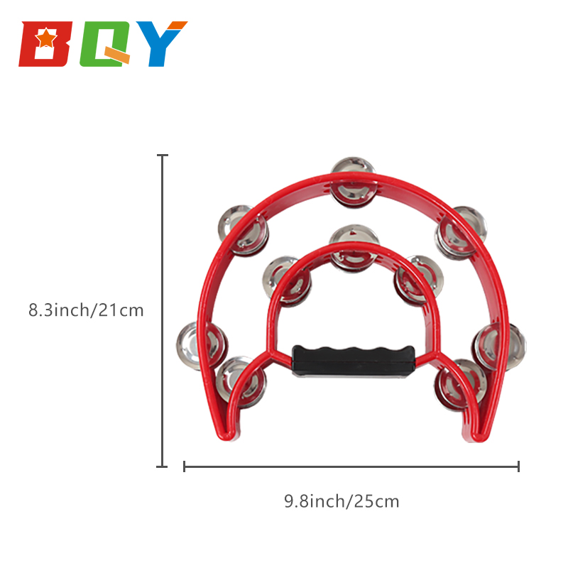BQY kids Hand Tambourine For Toddler Musical Instruments Preschool Education Early Learning Musical Toy for Boys and Girls