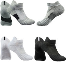 Sports Patchwork Men's Socks Breathable Deodorant Cotton Sock Towel Bottom Trainer Short Sock Male Soft Ankle Socks High Quality(China)
