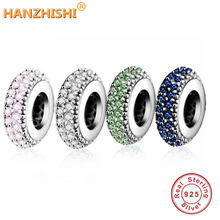 Fit Pandora Charms Original Armband Spacer Charme 925 Silber Perle Abstrakte Zirkon Perlen Schmuck Machen 2016 Winter DIY Berloque(China)