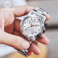 2019 nowy OCHSTIN Top markowe zegarki męskie mężczyźni pełna stal wodoodporny Casual zegarek kwarcowy z datownikiem męski zegarek na rękę relogio masculino w Zegarki kwarcowe od Zegarki na