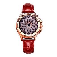 יפה ייחודי Creative יוקרה קריסטל פטיפון נשים של קוורץ שעונים מהודר גבירותיי שמלה מזדמן שעוני יד שעון נשי