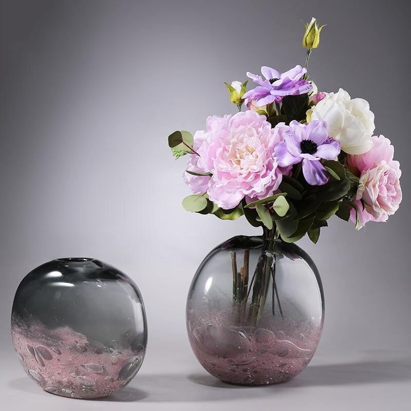 Nordic Creativo Vaso di Vetro Complementi Arredo Casa Artigianato di Coltura Idroponica Pianta Vaso di Fiori Fioriera Fiori Secchi Bottiglia Contenitore Ornamento Artigianato - 4