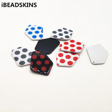 New arrival! 50pcs 37x28mm acetic acid Polka dot irregular s
