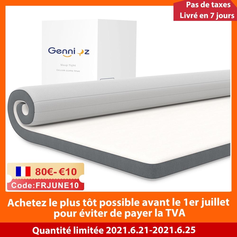 10cm Gel Memory Foam Mattress Topper with Cover High Density Ergonomic Orthopedic Foam Bed Pads Bedroom Floor Car Sleeping Mat