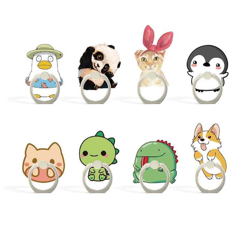 Cute Animal pig Penguin Dinosaur Panda Mobile Phone Stand Holder Finger Ring Smartphone Holder Stand For Xiaomi Huawei All Phone