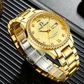 Мужские Топ брендовые Роскошные серебристые золотые автоматические механические часы для мужчин полностью стальной Скелет водонепроница...