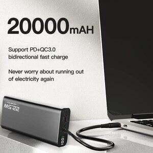 Image 5 - 20000 мАч Внешний аккумулятор 22,5 Вт Быстрая зарядка 3,0 5A повербанк внешний аккумулятор цифровой дисплей PD быстрая портативная Внешняя батарея супер быстрое зарядное устройство