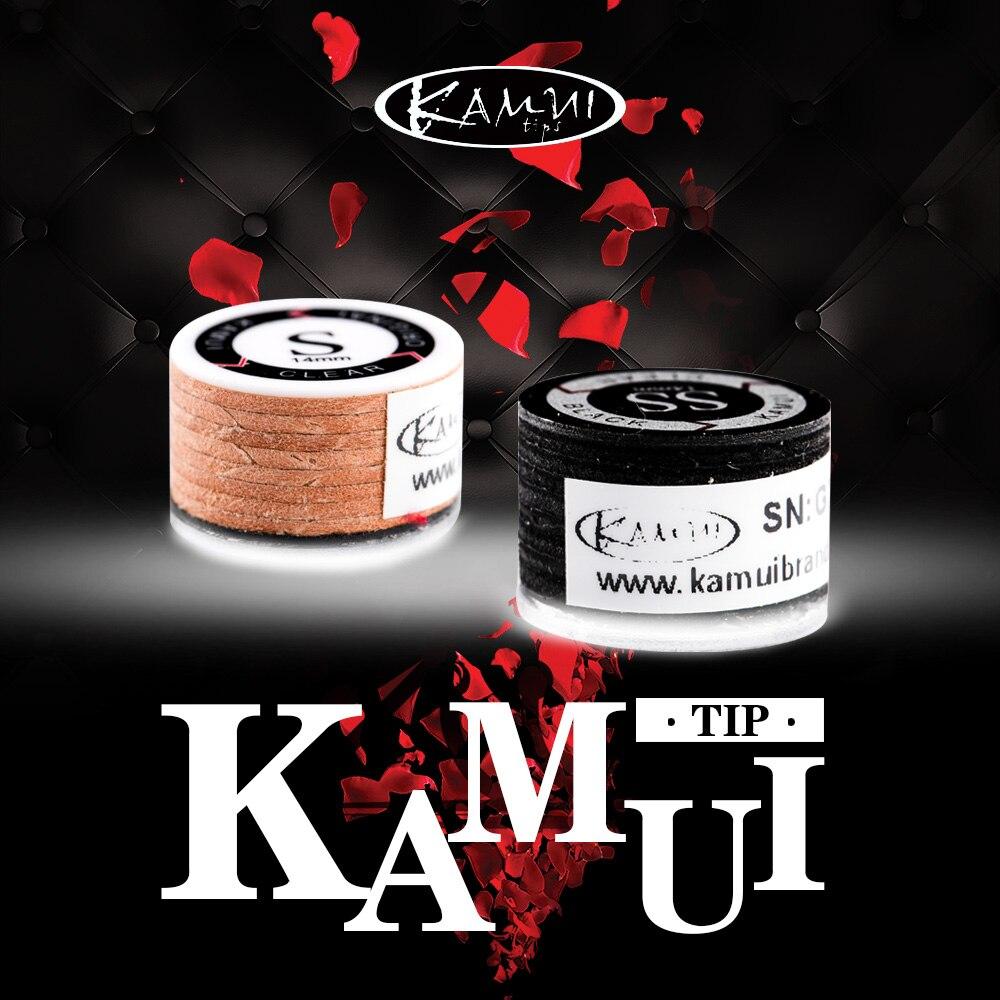 Japanese Original Import KAMUI Billiard Black Pool Cue Tip 14mm SS/S/M/H Snooker Tip Brown 11mm M/MH Billiard Accessories