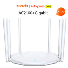 Tenda ac2100 roteador sem fio gigabit versão dupla-faixa 2.4g/5g wifi 128m ram cobertura externa amplificador de sinal repetidor pppoe