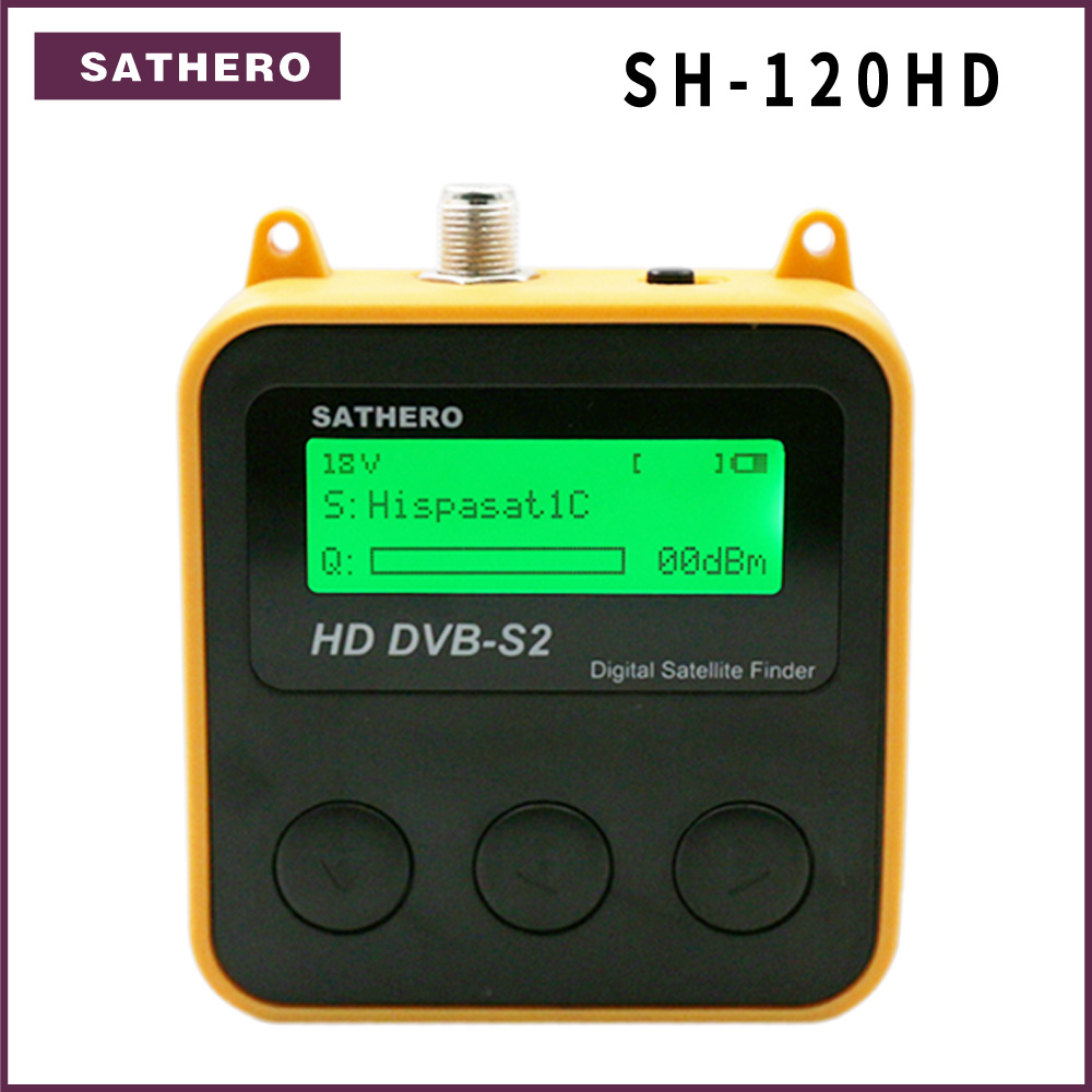 Sathero SH-120HD DVB-S2 High Definition Digital Satellite Finder  Portable Satelite Finder Meters Free Sat Programs