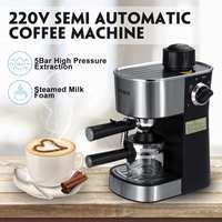 220V Semi automatic Steam Type Espresso Coffee Machine Cappuccino Coffee Maker Coffee Machine Espresso Portable Coffee Maker