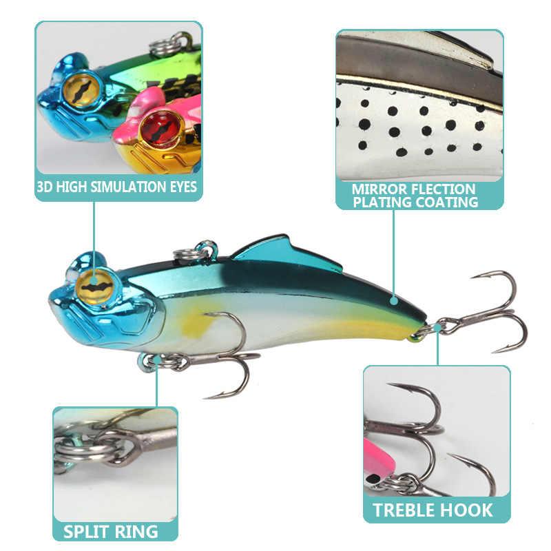 الصيد إغراء VIB 65 مللي متر 12.7 جرام غرق الطعم الثابت المتذبذب isca الاصطناعي V065