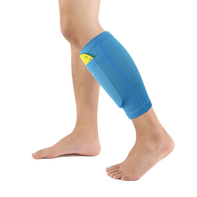 1 pair Football Protective Soccer Man Socks Shin Guard With Pocket For Football Shin Pads Leg Sleeves Supporting Adult