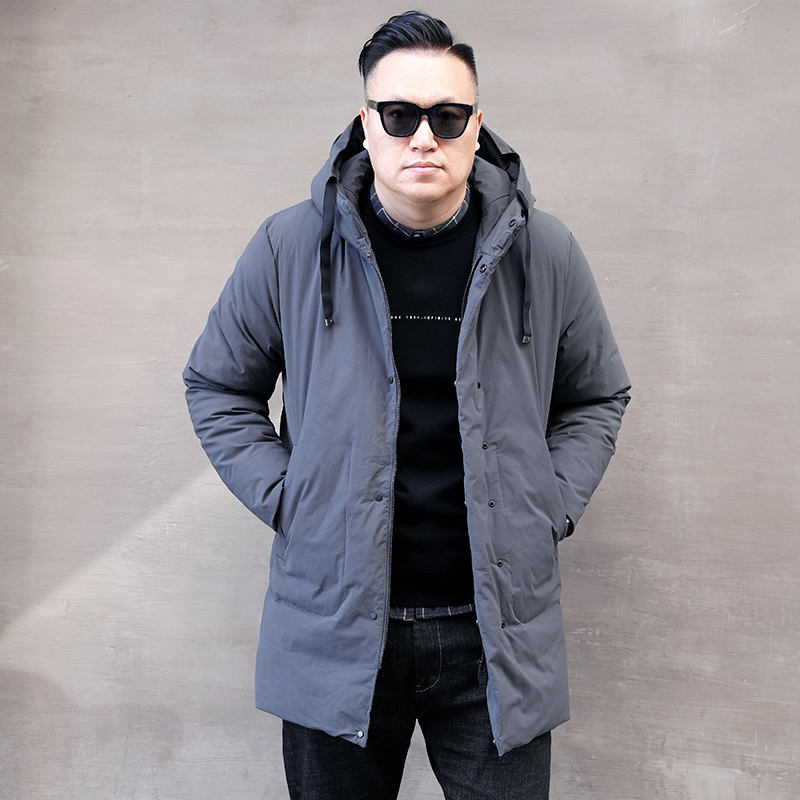Duck White Down Jacket Plus Size Puffer Jacket Men Hooded Winter Coat Men Warm Parka Moda Masculina 3320 YY1337