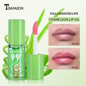 1PC Moisture Aloe Color Change Lipstick Moisturizing Long Lasting Lipbalm Natural Aloe Vera Sample Lip Gloss Anti Aging TSLM2