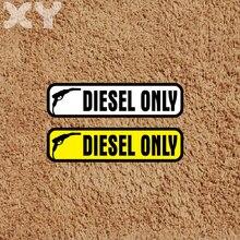 Xy 2 pces 13cm x 3.3cm diesel combustível vinil decalques adesivo do carro do divertimento para o tanque de combustível tampa auto adesivo
