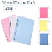 Adesivo coletando álbum reusável adesivo livro 40 folhas a4/a5 capa de couro do plutônio para scrapbook tsh loja