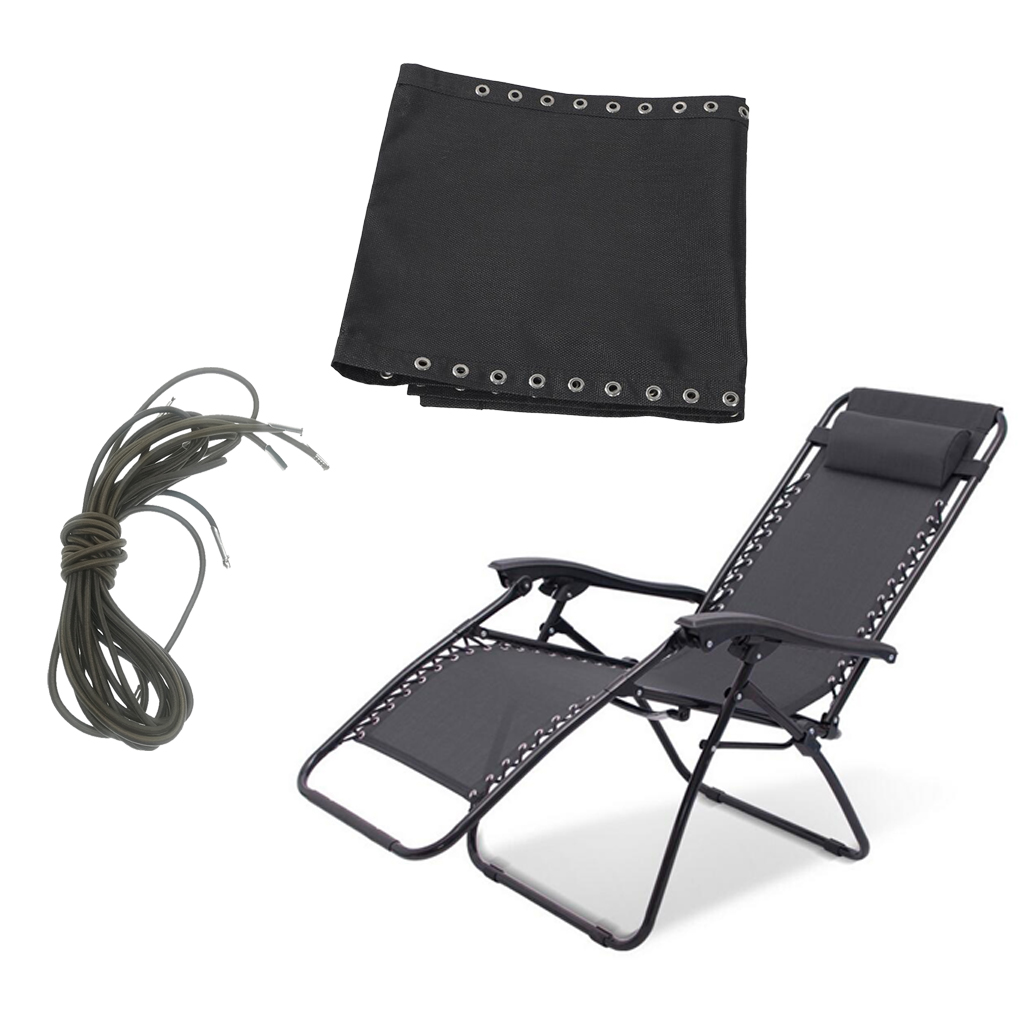 Leisure Chair Cloth /&Lace for Patio Folding Chair Non-Gravity Couch Rhombus