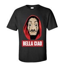 Col rond Bella Ciao pur coton t-shirt hommes La casa de Papel T-shirts à manches courtes offre spéciale Geek hauts t-shirt livraison directe