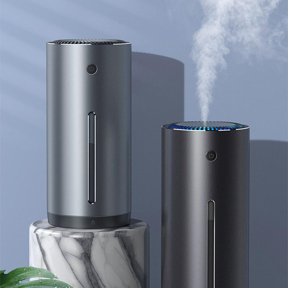 Car Air Humidifier 300ML Alloy Car USB Air Humidifier Mist Maker For Auto Home Office Accessories Car Air Humidifier Supplies