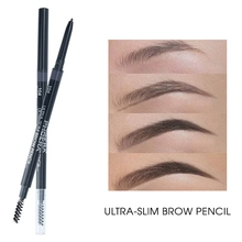 PHOERA New Fine Eyebrow Pencil Waterproof Smudge-proof Easy To Color Double-end Eyebrow Pencil
