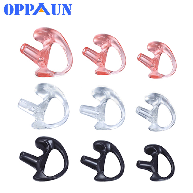 6PCS (3 Pairs) Silicone Earmolds Ear Mold Earloop Two Way Radio Acoustic Tube Earpiece Walkie Talkie Accessories
