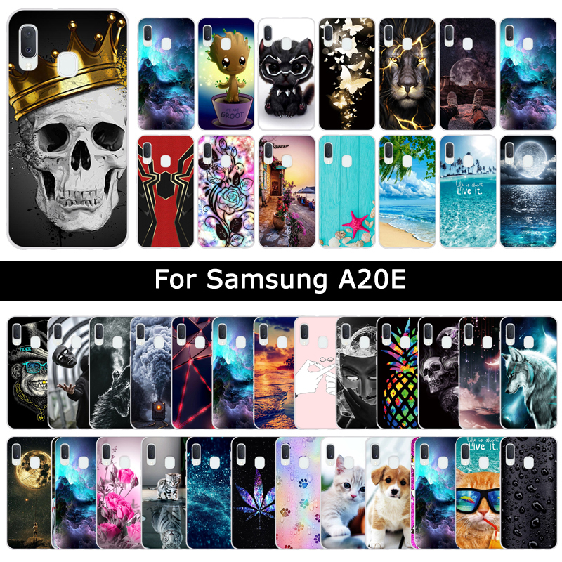 Soft Silicone TPU Cases For <font><b>Samsung</b></font> <font><b>Galaxy</b></font> A20E <font><b>A20</b></font> E Cartoon Cute Painting Protective Cases Back Shells Cover Fundas Coque Capa image