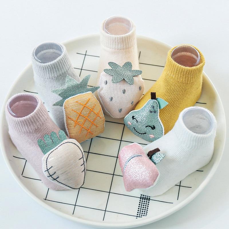 Baby Socks Newborn Anti Slip 3D Cartoon Cute Baby Socks For Girls Spring Toddler Cotton Baby Boys Floor Socks 2020 New Arrival
