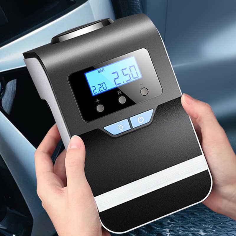Inflador de neumáticos de coche con pantalla Digital EAFC, inflador de neumáticos de coche de 12 V, compresor de aire eléctrico, bomba portátil automática