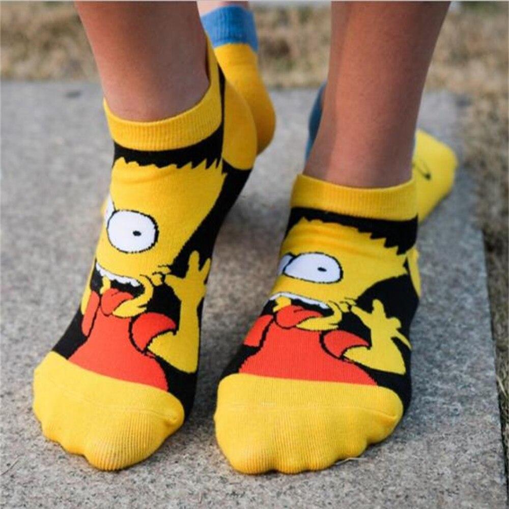 New Short Socks Pure Cotton Cartoon Anime Shallow Mouth Boat Socks Personality Sponge Baby Neutral Straight Short Cotton Socks
